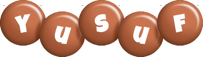Yusuf candy-brown logo