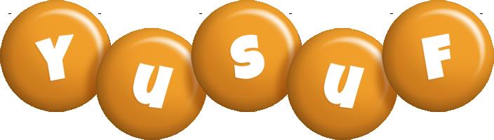 Yusuf candy-orange logo