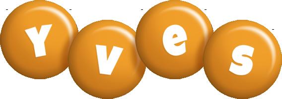 Yves candy-orange logo
