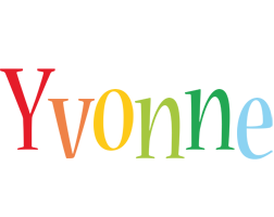 Yvonne birthday logo