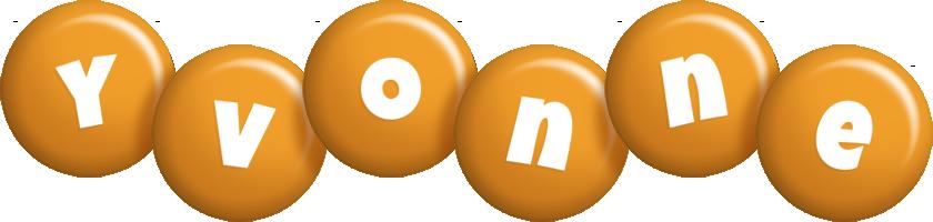Yvonne candy-orange logo