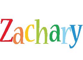 Zachary birthday logo