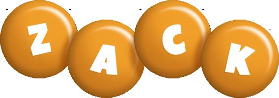 Zack candy-orange logo