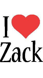 Zack i-love logo