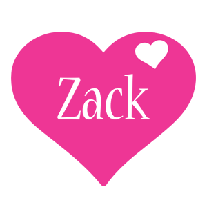 Zack love-heart logo