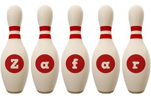 Zafar bowling-pin logo