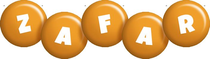 Zafar candy-orange logo