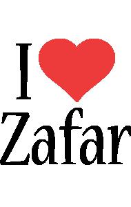 Zafar i-love logo