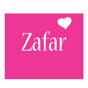 Zafar love-heart logo