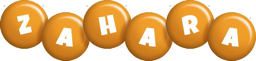 Zahara candy-orange logo