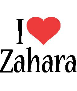 Zahara i-love logo