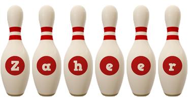 Zaheer bowling-pin logo