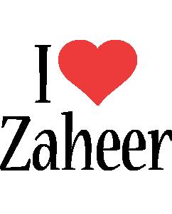 Zaheer i-love logo