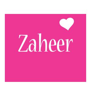 Zaheer love-heart logo