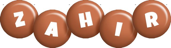 Zahir candy-brown logo