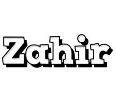 Zahir snowing logo