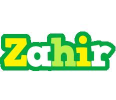 Zahir soccer logo