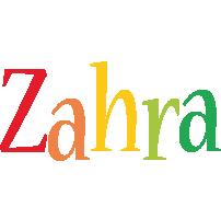 Zahra birthday logo