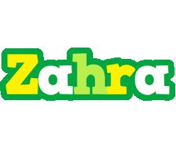 Zahra soccer logo