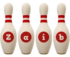 Zaib bowling-pin logo