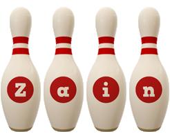 Zain bowling-pin logo