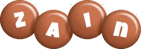 Zain candy-brown logo