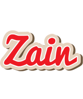 Zain chocolate logo