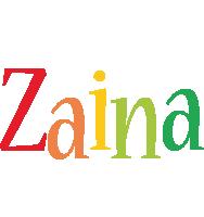 Zaina birthday logo