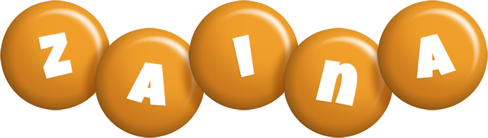 Zaina candy-orange logo