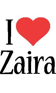 Zaira i-love logo
