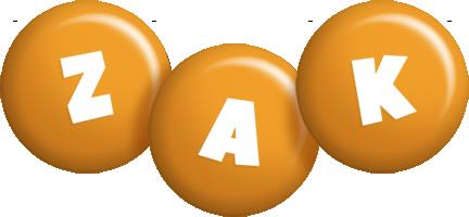 Zak candy-orange logo