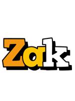 Zak cartoon logo