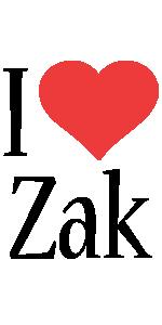 Zak i-love logo