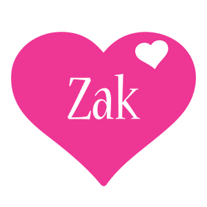 Zak love-heart logo