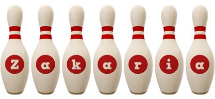 Zakaria bowling-pin logo