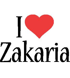 Zakaria i-love logo