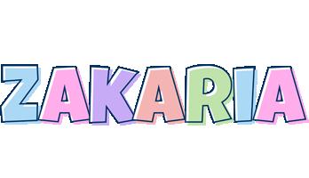 Zakaria pastel logo