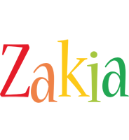 Zakia birthday logo