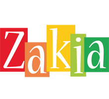 Zakia colors logo
