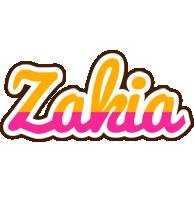 Zakia smoothie logo