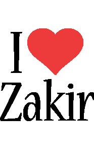 Zakir i-love logo