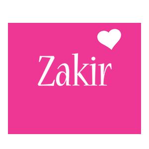 Zakir love-heart logo