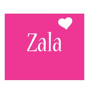 Zala love-heart logo