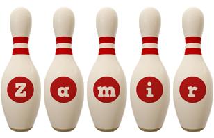 Zamir bowling-pin logo