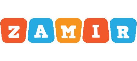 Zamir comics logo