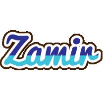 Zamir raining logo