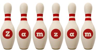 Zamzam bowling-pin logo