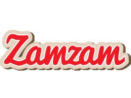 Zamzam chocolate logo