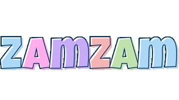 Zamzam pastel logo