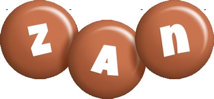 Zan candy-brown logo